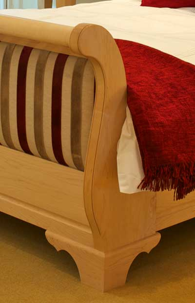 Wooden Slay Bed in Maple