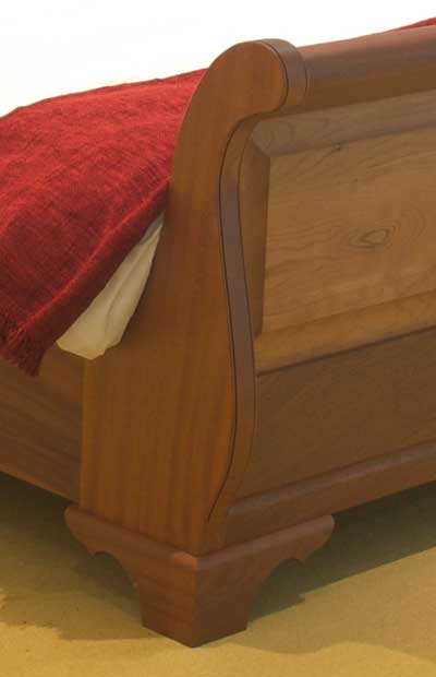 Wooden Slay Bed in Cherry